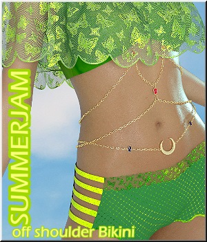 Summerjam - Off Shoulder Bikini 3D Figure Assets LUNA3D