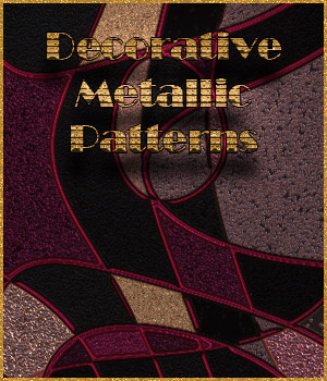 Seamless Decorative Metallic Patterns 2D Graphics Merchant Resources adarling97