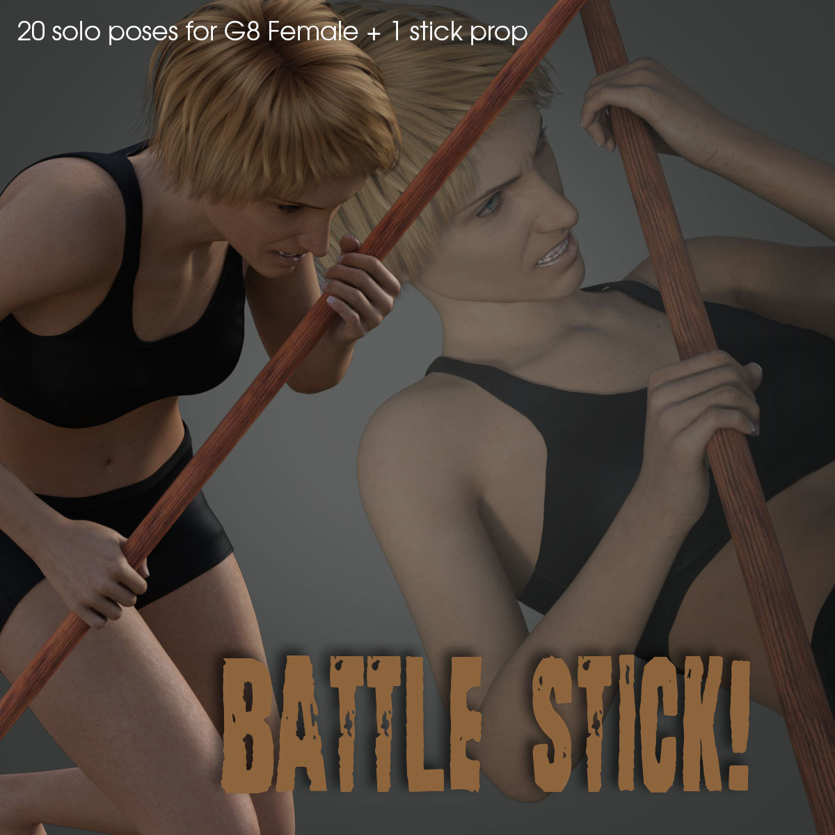 Battle Stick! for Genesis 8 Female by PainMD