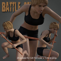 Battle Stick! for Genesis 8 Female image 2