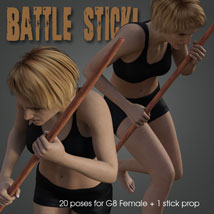 Battle Stick! for Genesis 8 Female image 3