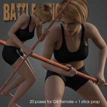 Battle Stick! for Genesis 8 Female image 4