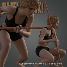 Battle Stick! for Genesis 8 Female image 5