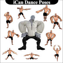 iCan DANCE Poses for Toon Dwayne 8 (TD8) image 1