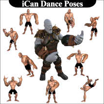 iCan DANCE Poses for Toon Dwayne 8 (TD8) image 3