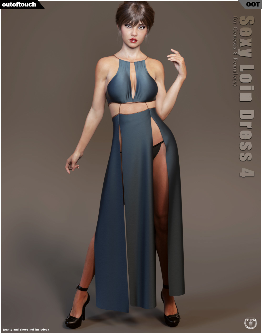 dForce Sexy Loin Dress 4 for Genesis 8 Females