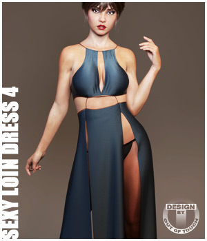 dForce Sexy Loin Dress 4 for Genesis 8 Females 3D Figure Assets outoftouch