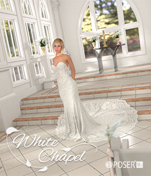 White Chapel for Poser 3D Figure Assets 3D Models RPublishing