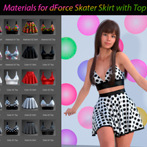 Materials for dForce Skater Skirt with Top for Genesis 8 Female image 1