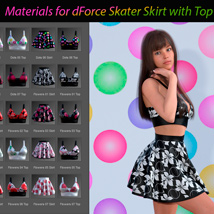 Materials for dForce Skater Skirt with Top for Genesis 8 Female image 2