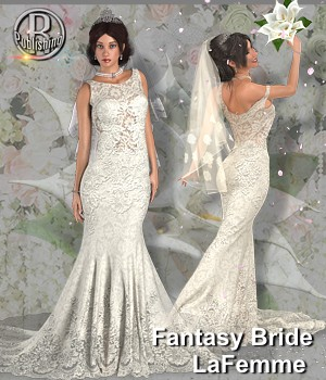 RP Dynamic Fantasy Bride for Poser 3D Figure Assets La Femme Female Poser Figure RPublishing