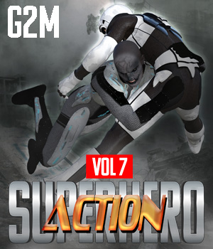SuperHero Action for G2M Volume 7 3D Figure Assets GriffinFX