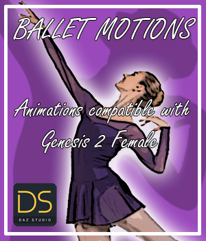 Ballet Motions for G2F 3D Figure Assets AnyMatter