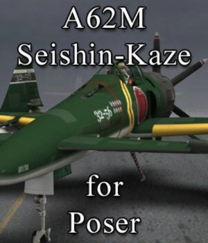 A62M Seishin-Kaze for Poser 3D Models VanishingPoint