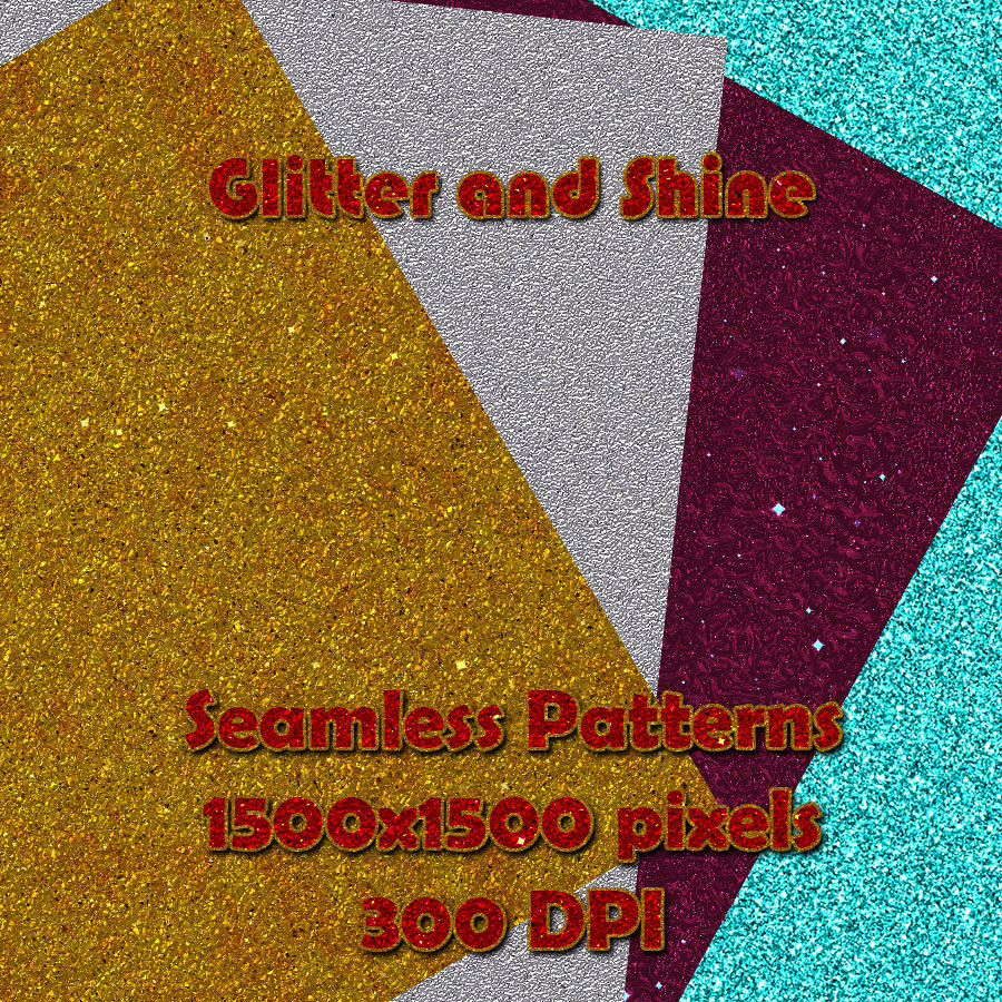 Seamless Glitter and Shine Patterns