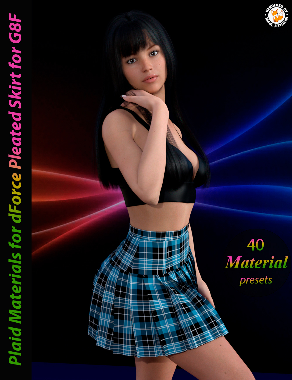 Plaid Materials for dForce Pleated Skirt