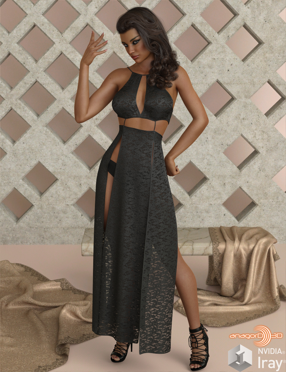 VERSUS - dForce Sexy Loin Dress 4 for Genesis 8 Females by Anagord