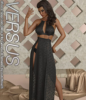 VERSUS - dForce Sexy Loin Dress 4 for Genesis 8 Females 3D Figure Assets Anagord
