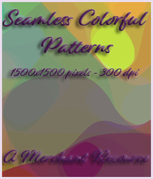 Seamless Colorful Patterns 2D Graphics Merchant Resources adarling97