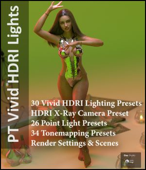 Paper Tiger's Vivid HDRI Lighting  3D Lighting : Cameras PaperTiger