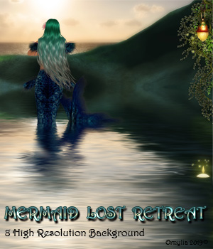 Mermaid lost retreat  2D Graphics ornylia