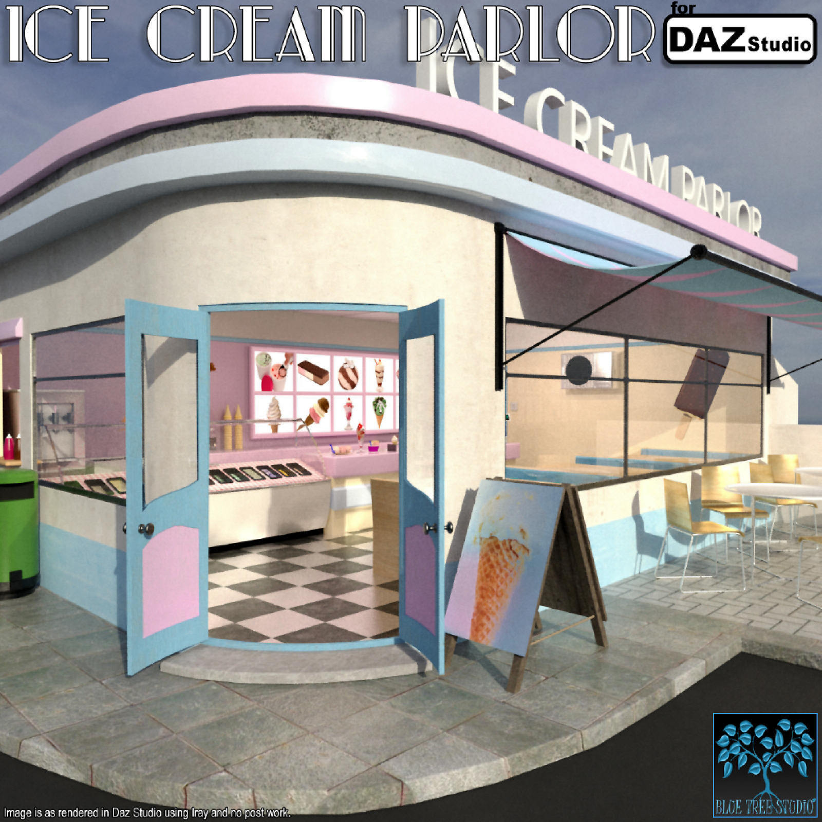 Ice Cream Parlor for Daz Studio by BlueTreeStudio