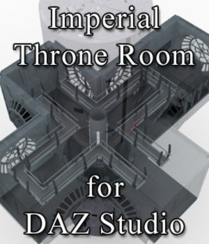 Imperial Throne Room for DAZ Studio 3D Models VanishingPoint