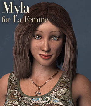 D9S Myla 3D Figure Assets La Femme Female Poser Figure Dream9Studios