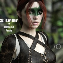 SC Taavi Hair for Genesis 3 and 8 Female image 1