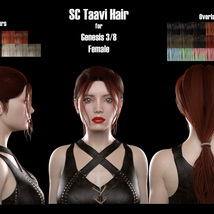 SC Taavi Hair for Genesis 3 and 8 Female image 4