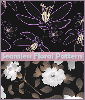 Seamless Floral Patterns 2D Graphics Merchant Resources antje