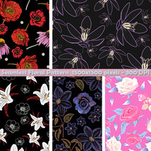 Seamless Floral Patterns image 1