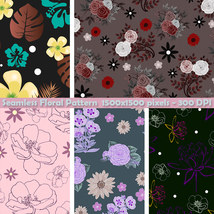 Seamless Floral Patterns image 2