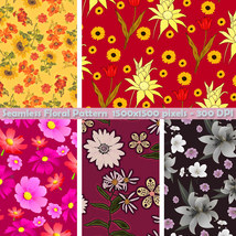 Seamless Floral Patterns image 3