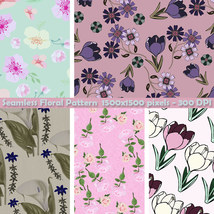 Seamless Floral Patterns image 4