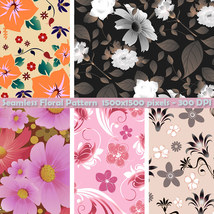 Seamless Floral Patterns image 7