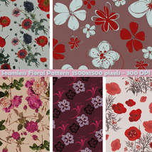 Seamless Floral Patterns image 9