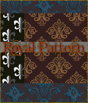 Seamless Royal Patterns 2D Graphics Merchant Resources adarling97