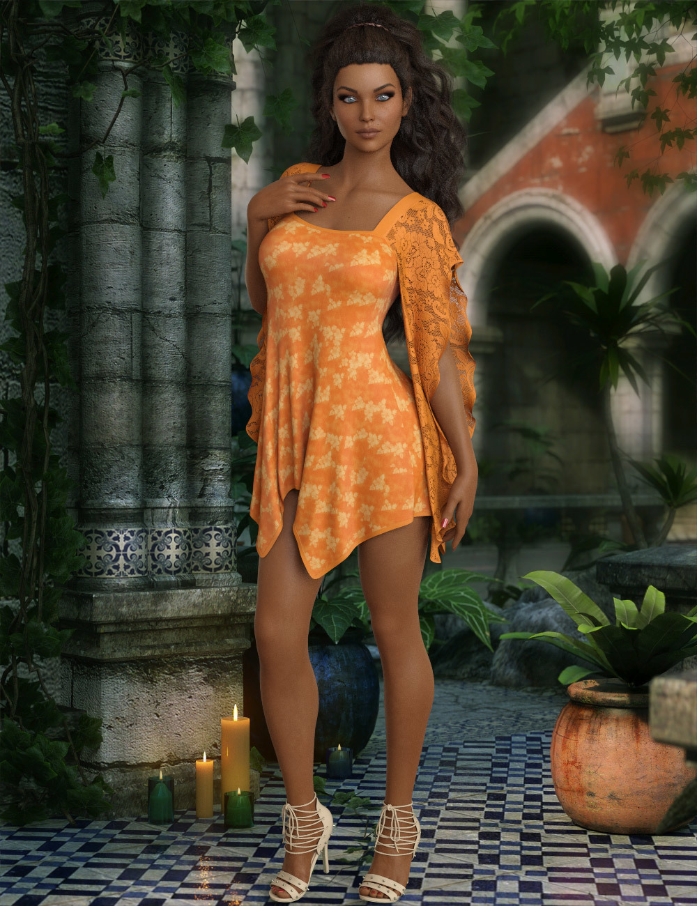 InStyle - dForce - Belinda Dress for G8F by -Valkyrie-