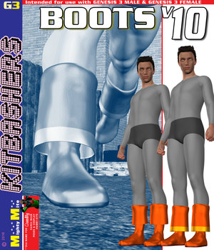 Boots v010 MMKBG3 3D Figure Assets MightyMite