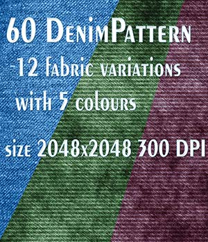 60 Denim-Pattern 2048x2048 JPG   300 Dpi 2D Graphics kalhh
