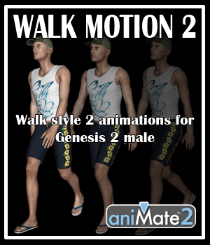 Walk Motion 2 for G2M 3D Figure Assets AnyMatter