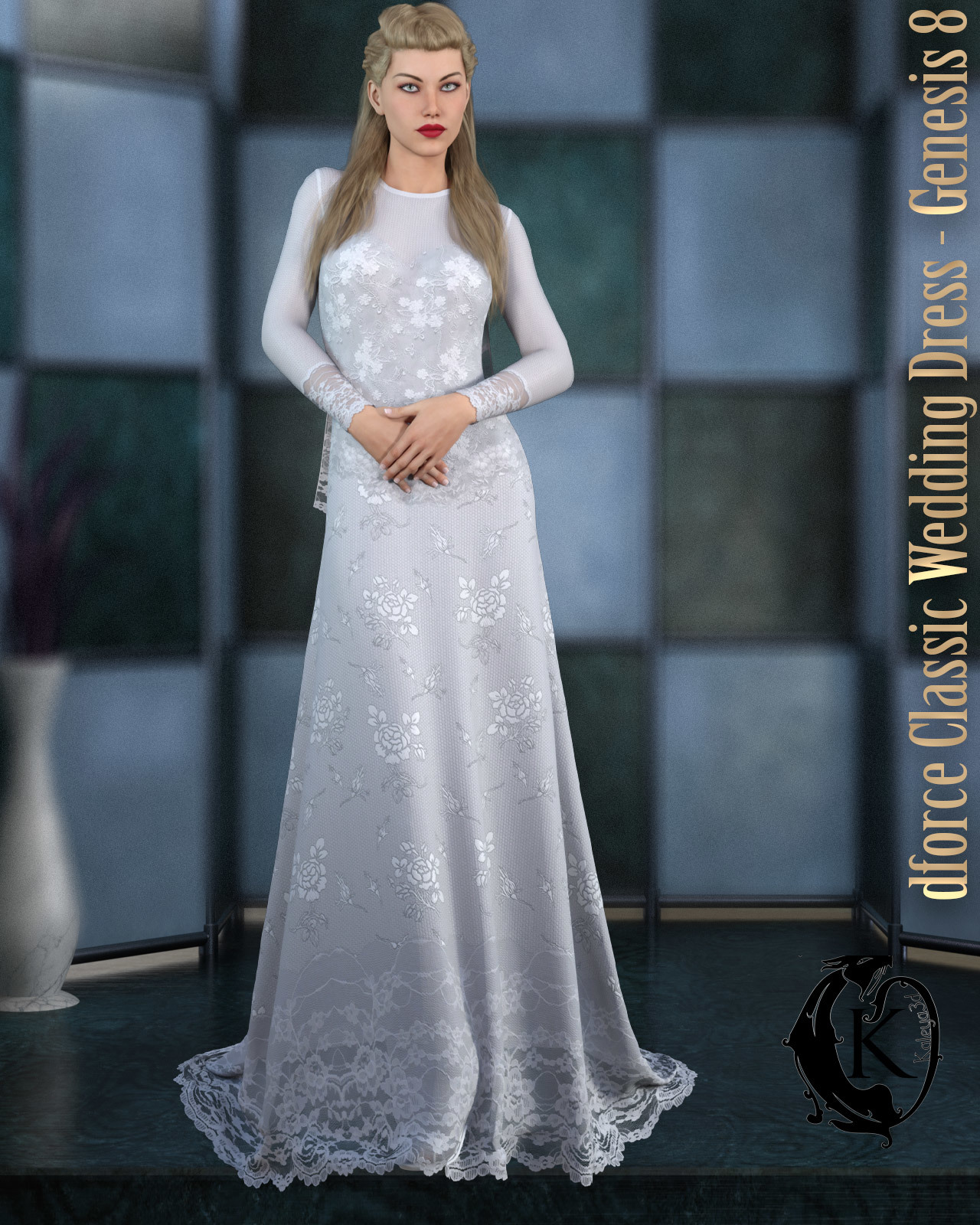 dforce - Classic Wedding Dress - Genesis 8 by kaleya
