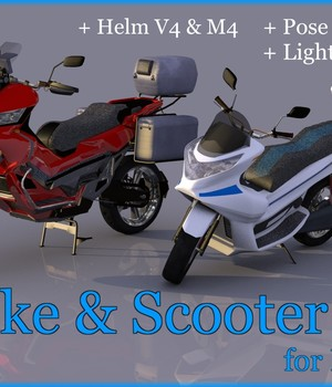 Bike-Scooter1 3D Models mausel