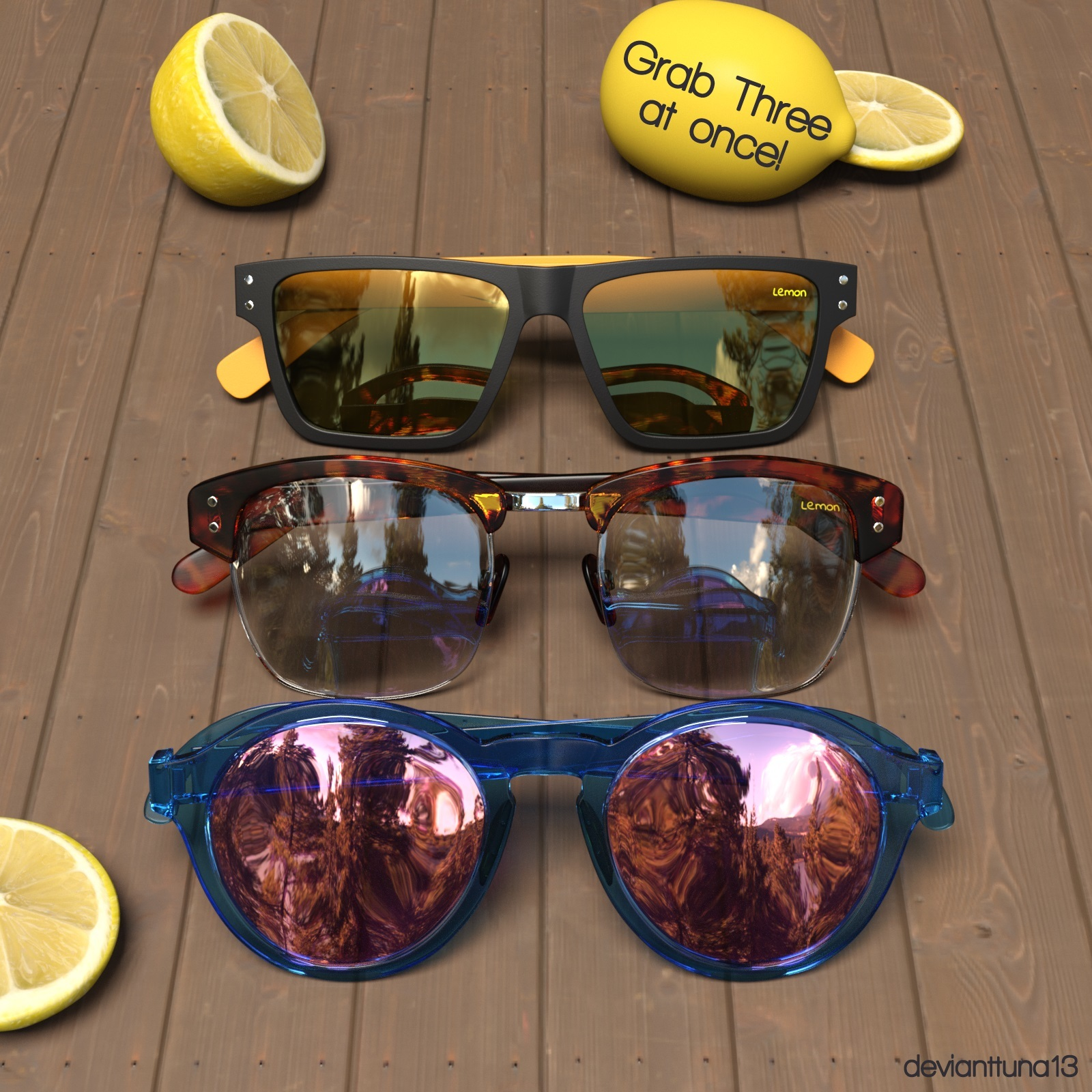 Lemon Glasses - 3 in 1