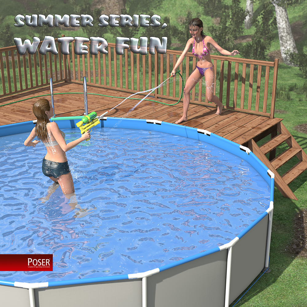 Summer series, Water fun for Poser