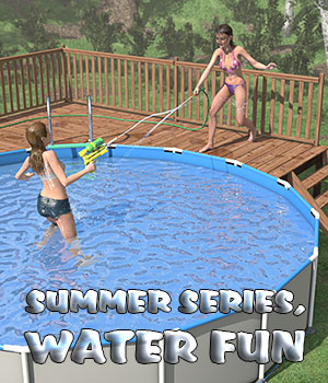 Summer series, Water fun for Poser 3D Models 2nd_World