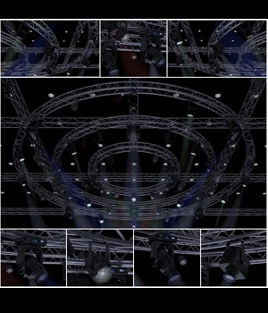 TV Studio Stage Truss and Lights - Extended License 3D Game Models : OBJ : FBX 3D Models Extended Licenses akeryilmaz