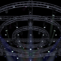 TV Studio Stage Truss and Lights - Extended License image 1