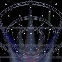 TV Studio Stage Truss and Lights - Extended License image 2